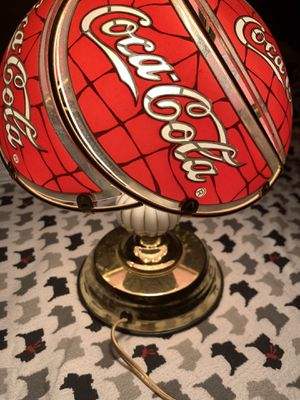 Tiffany Style Stained Glass Collectible Coca-Cola Touch Lamp for Sale in South Hackensack, NJ