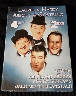 2005 LAUREL & HARDY - ABBOTT & COSTELLO 2-DVD Set 4-Feature Film PLATINUM for Sale for sale  Las Vegas, NV