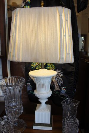 Frederick Cooper white table lamp with square shade for Sale in Wilton Manors, FL
