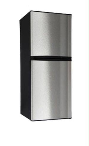 Refrigerator compact slim fit 10 Cu Ft Stainless Steel / Black Top Freezer Nevera Angosta Apartamento Efficiency Negra y Gris Congelador Arriba for Sale in Miami, FL