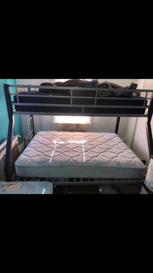 Metal bunk bed with mattress. for Sale in Allentown, PA
