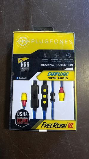 Plugfones EarPlug With Audio ( Ref#012296-BK ) for Sale in Phoenix, AZ