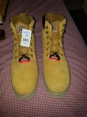 Work boots steel Toe size 14 for Sale in Las Vegas, NV