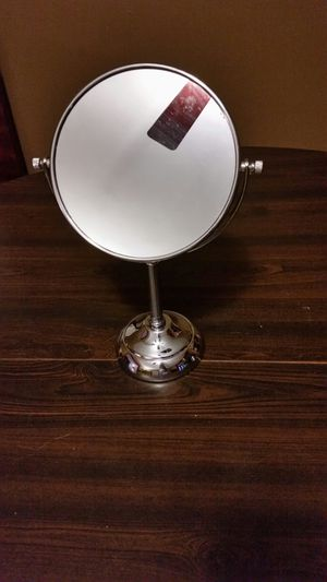 Silver vanity top magnifying makeup mirror for Sale in Hartford, CT