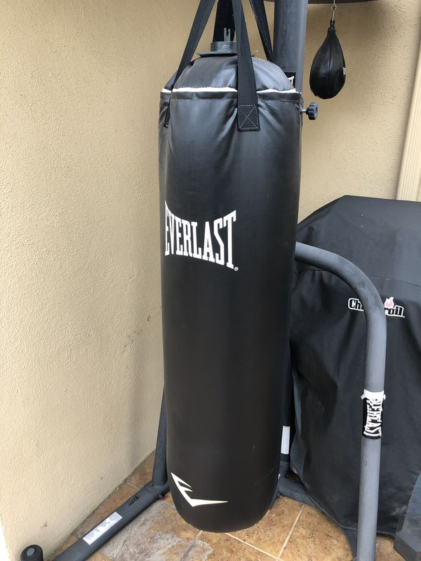 Everlast heavy bag and speed bag