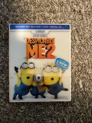 Despicable Me 2 - Blu-Ray 3D + Blu-Ray + DVD! for Sale in Trenton, MI
