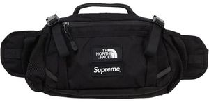 Supreme x The North Face Expedition Black Waist Bag *STAINED INSIDE POCKET OUTSIDE MINT CONDITION * Fanny Skater Gift Crossbody Designer for Sale in Los Angeles, CA