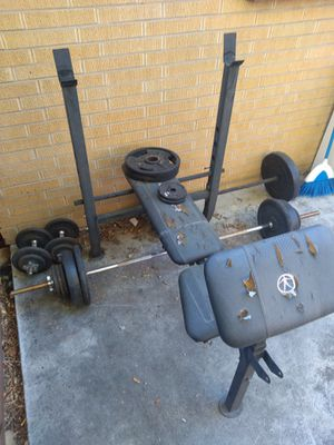 Weight set and bench for Sale in Arvada, CO