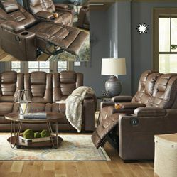 🎵Owner's Box Thyme Power Reclining Living Room Set with Adjustable Headrest🎵⏰39 DOWN⏰ for Sale in Houston,  TX