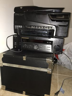HP offivejet 6700 premium printer with wifi connection & sony stereo system base for Sale in Silver Spring, MD