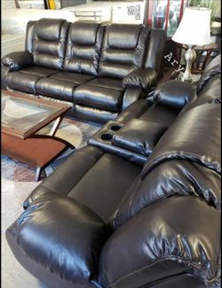 🎋39$ Down Payment🎋Vacherie Brown Reclining Living Room Set for Sale in Alexandria,  VA