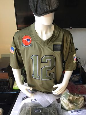 Patriots jerseys,Salute to service.pick up or ship,Christmas gift that someone will love. Stitched and embroidered. for Sale in Boston, MA