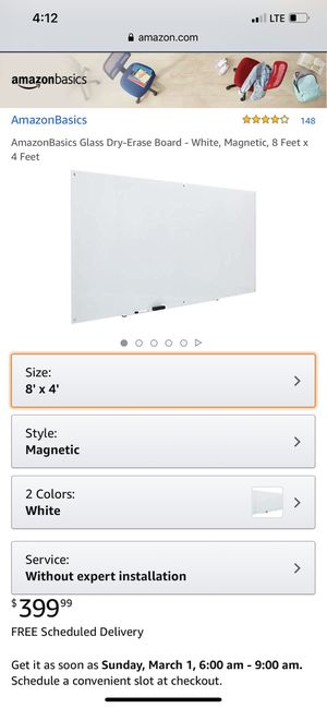 Amazon Basics glass magnetic dry erase board(new in box) for Sale in Clovis, CA