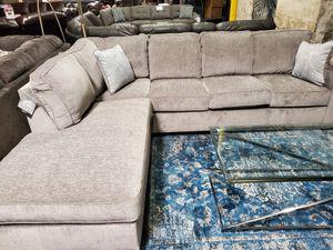 Microfiber Sectional Sofa, Light Grey for Sale in Santa Fe Springs, CA