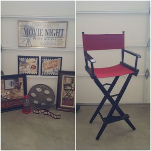 Director's Chair and Cinema Theme Decor for Sale in Puyallup, WA