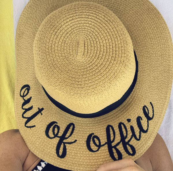 """b8bc752c5c """"Out of Office"""" - Sun Floppy Hat (WORN ONLY ONCE) for Sale in ..."""