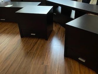 Living Room Set: Entertainment Center, Coffee Table, 2 End Tables for Sale in Puyallup,  WA