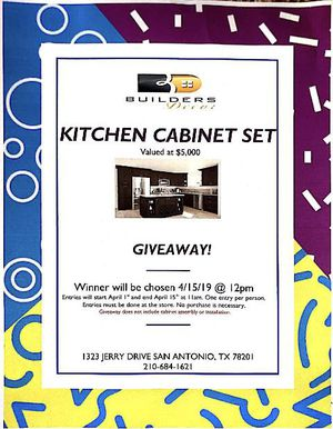 Cabinet Giveaway! for Sale in San Antonio, TX