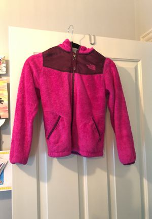 The North Face pink fleece zip up hoodie jacket for Sale in Glenview, IL