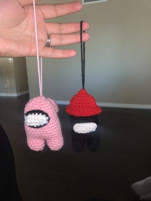 Among us HAND MADE crochet plushies! for Sale in Phoenix, AZ