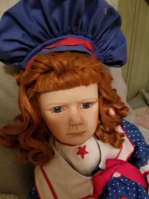 Antique Vintage freckled face Porcelain doll red hair for Sale in West Palm Beach, FL