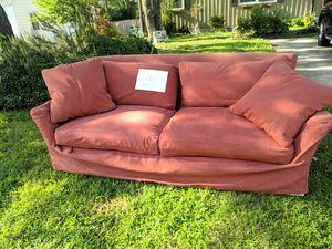 Crate and barrel couch on curb. FREE for Sale in Raleigh, NC
