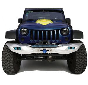 TOPFIRE Front Bumper with Winch Mounting Tray, Jeep Wrangler 07-17 Silver for Sale in Broadview Heights, OH