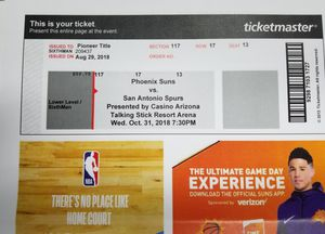 Phoenix Suns Tickets for Sale in Payson, AZ