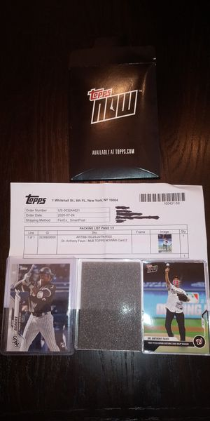 2020 Topps Now Dr Fauci Opening Day Pitch Card & 2020 Topps Luis Robert Rookie Card for Sale in Charlotte, NC