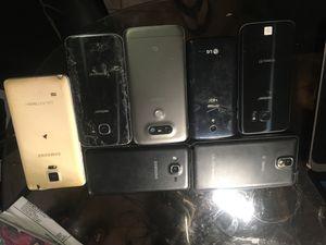 7 phones 2 Samsung galaxy s7 2 note. 2 LG un Samsung for Sale in Boston, MA