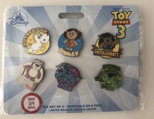 Toy Story 3 Pin Set Of 6 - Limited Release Disney Pixar Buttercup Lotso Trixie for Sale in Los Angeles, CA