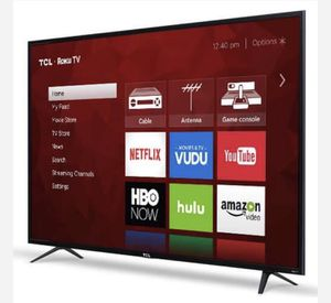 TCL 65in Class 4K (2160P) HDR refurbished Roku Smart LED TV (65S401) for Sale in Farmers Branch, TX