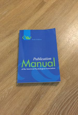 Apa Publication manual 6th edition for Sale in Los Angeles, CA