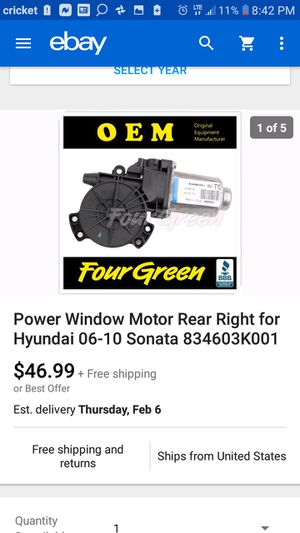 Power window motor rear right for Sale in Phoenix, AZ