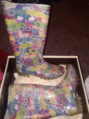 COACH RAIN BOOTS SZ 8, NEW IN BOX for Sale in Nashville, TN