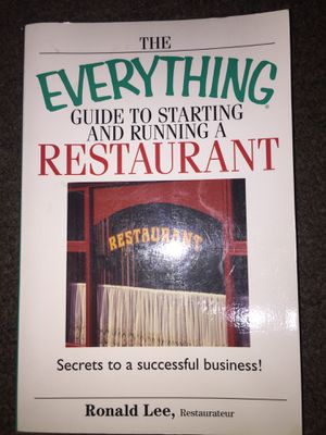 The everything Guide to starting and running a Restaurant book for Sale in Fresno, CA