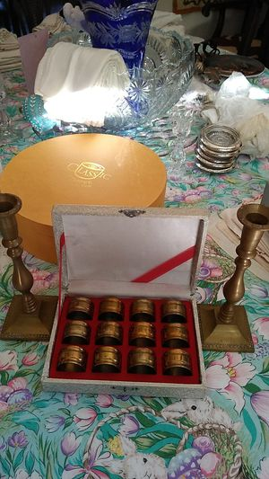 Napkin rings & candle holder for Sale in Fresno, CA