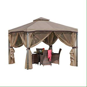 Sonoma Canopy Gazebo 10 x 10 feet / soft top garden tent with Mosquito Netting and Shade Curtains for Patio or deck for Sale in Arlington, TX