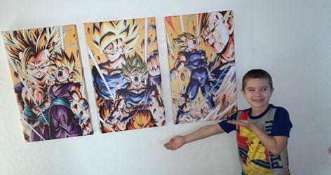 HD Dragonball Z Goku, Gohan and Vegeta Canvas Art for Sale in Rancho Cordova,  CA
