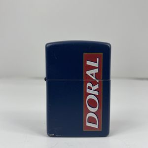 1995 Doral Cigarettes Zippo Lighter Navy Blue Brass Free Shipping for Sale in Peoria, IL