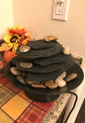 Adjustable black indoor water fountain with crystals and rocks for Sale in Burbank, CA
