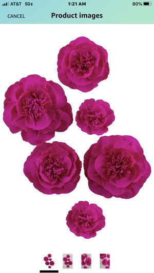 Letjolt ROSEO Paper Flower Decorations for Wall 1st Birthday Backdrop Wedding Party Baby Shower Bridal Shower Nursery Wall(ROSEO Set 6) for Sale in Las Vegas, NV
