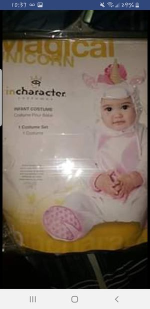 Unicorn costume for baby girl 12/18months for Sale in Hayward, CA