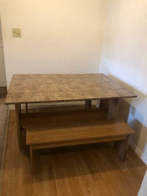 Dining table with two benches for Sale in Tampa, FL