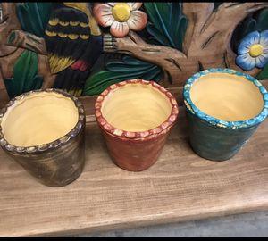 Trio Clay Flower Pots for Sale in Austin, TX