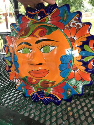 Big decorative pottery sun. Hand painted! for Sale in Knoxville, TN