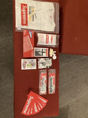 Supreme Brooklyn box logo, ziplock bags, poncho and stickers for Sale in Baltimore, MD