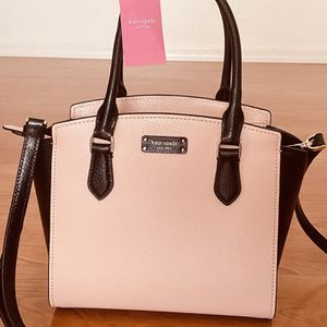 Authentic Kate Spade leather satchel, Brand New with Tags, MSRP $329, coral pink and black Kate Spade purse for Sale in Surprise, AZ