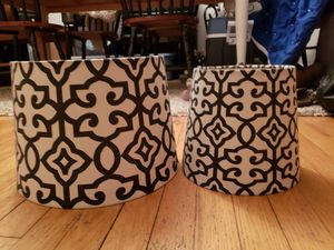 2 Black and Linen Coordinating Lampshades for Sale in Norfolk, VA