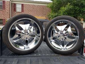"Set of 4 - 24"" Delinte Desert Storm D8+ Tires and Element Alloy Rims for Sale in Winter Haven, FL"